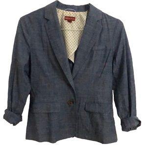 MERONA Chambray Two Button Pockets Jacket